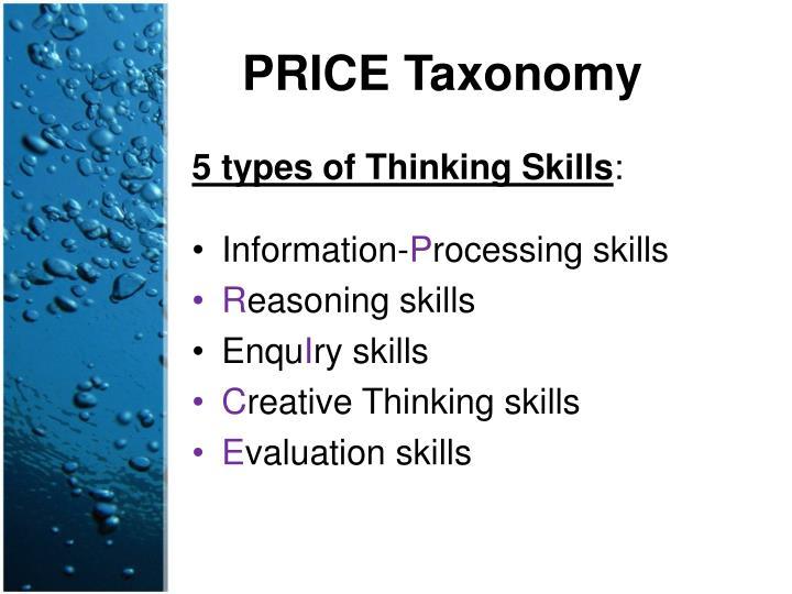 PRICE Taxonomy