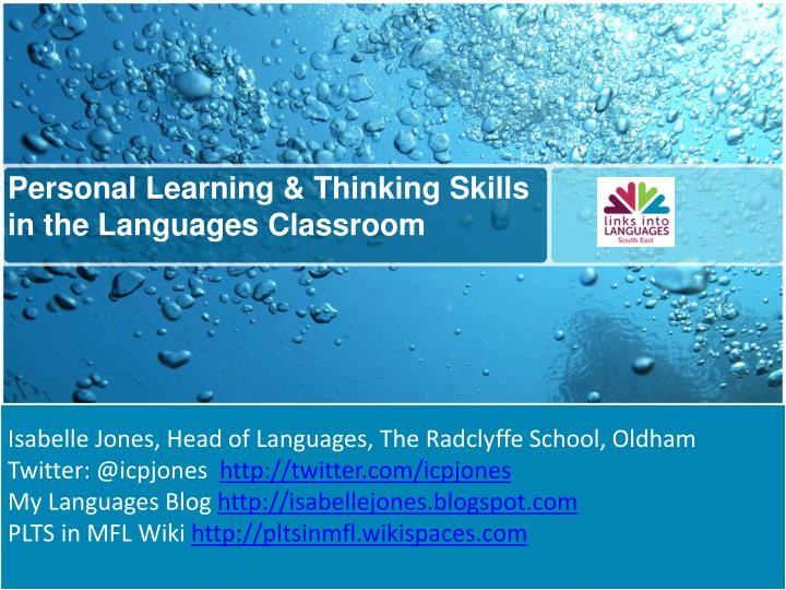 Personal Learning & Thinking Skills