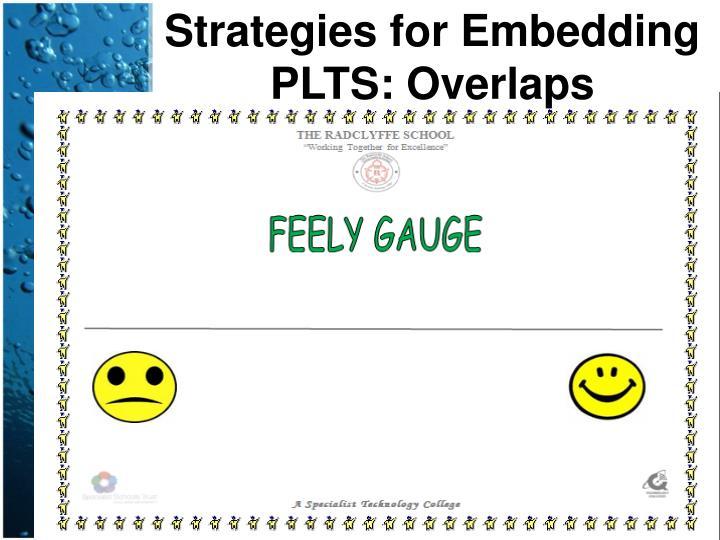 Strategies for Embedding PLTS: Overlaps