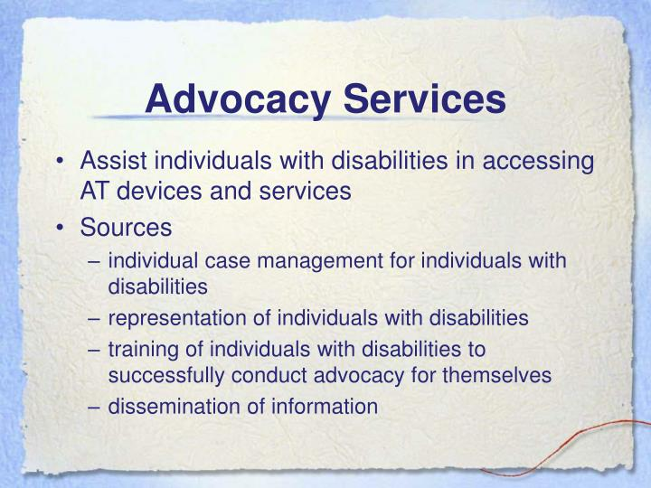 Advocacy Services