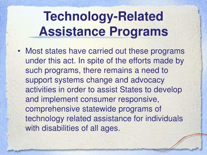 Technology-Related Assistance Programs