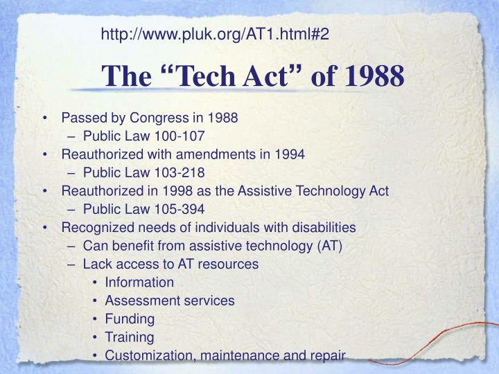 The tech act of 1988