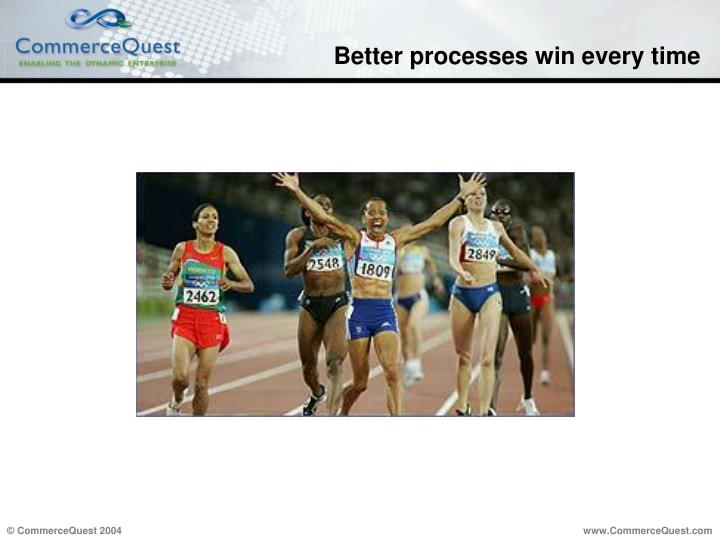 Better processes win every time