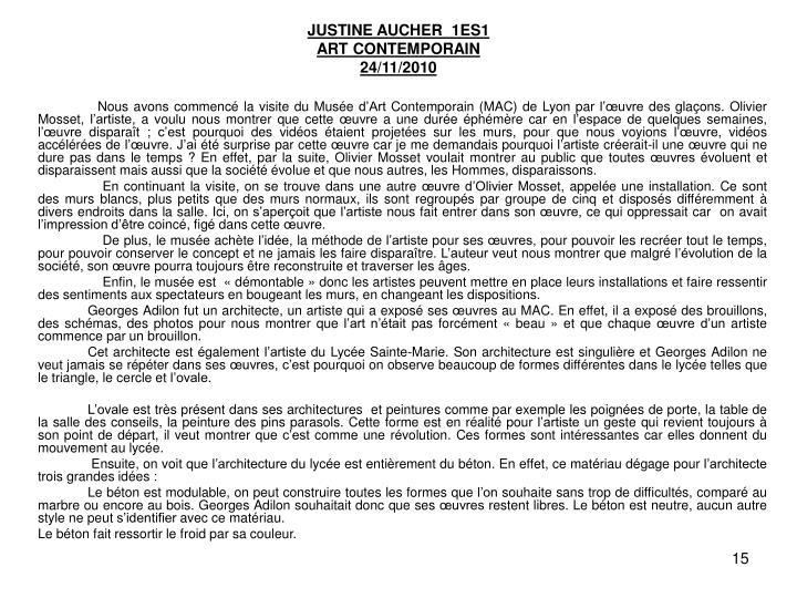 JUSTINE AUCHER  1ES1