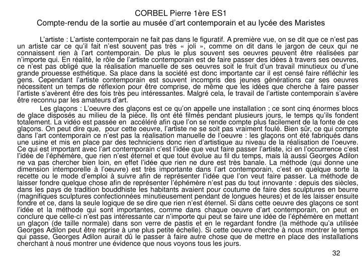 CORBEL Pierre 1re ES1