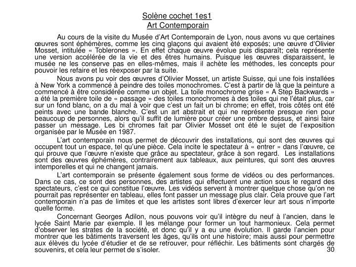 Solène cochet 1es1