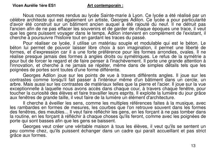 Vicen Aurélie 1ère ES1