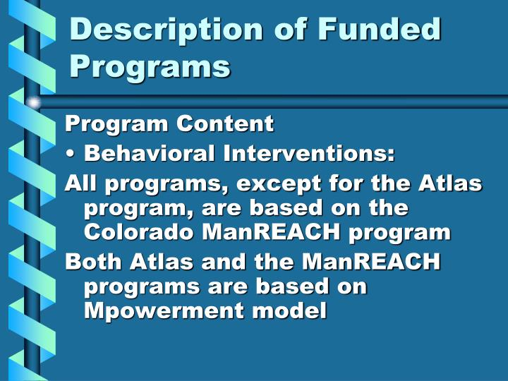 Description of Funded Programs