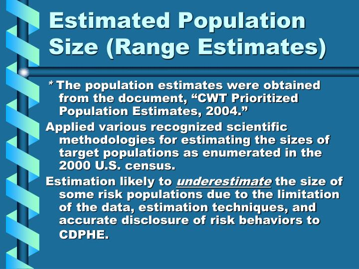 Estimated Population Size (Range Estimates)