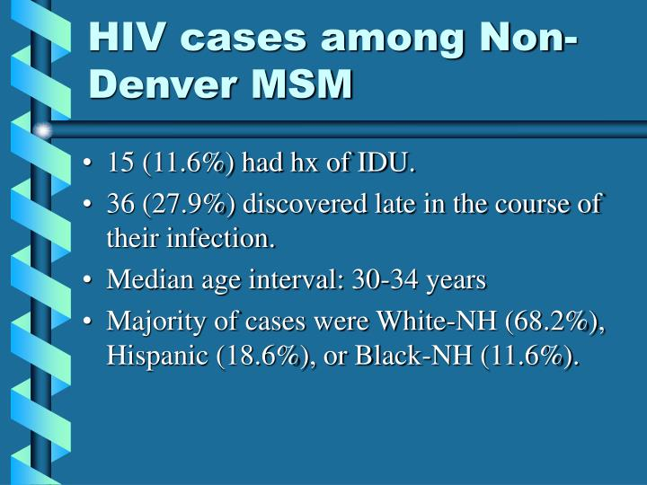 Hiv cases among non denver msm