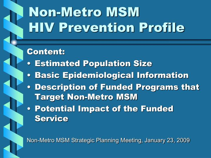 Non-Metro MSM