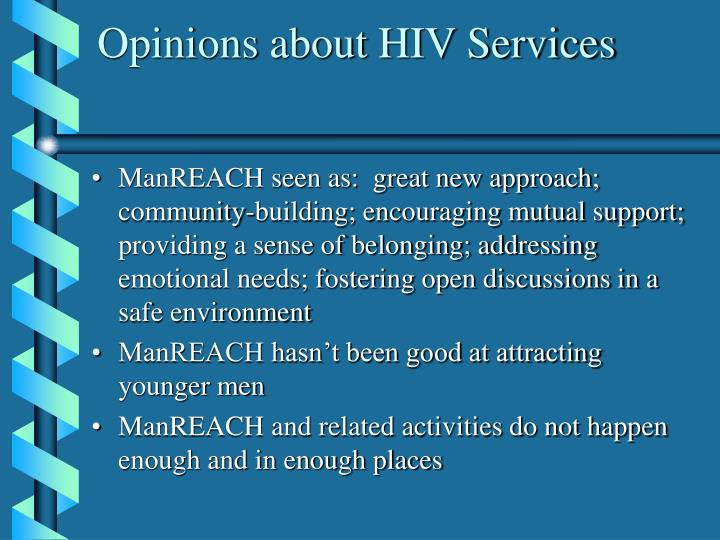 Opinions about HIV Services