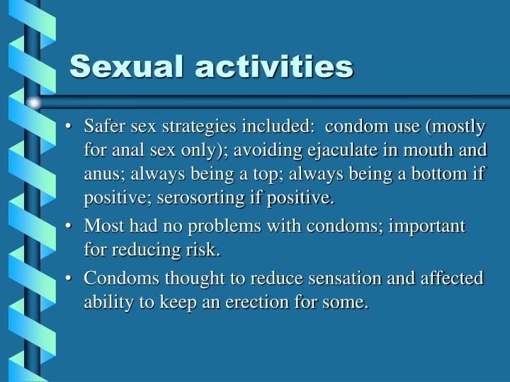 Sexual activities