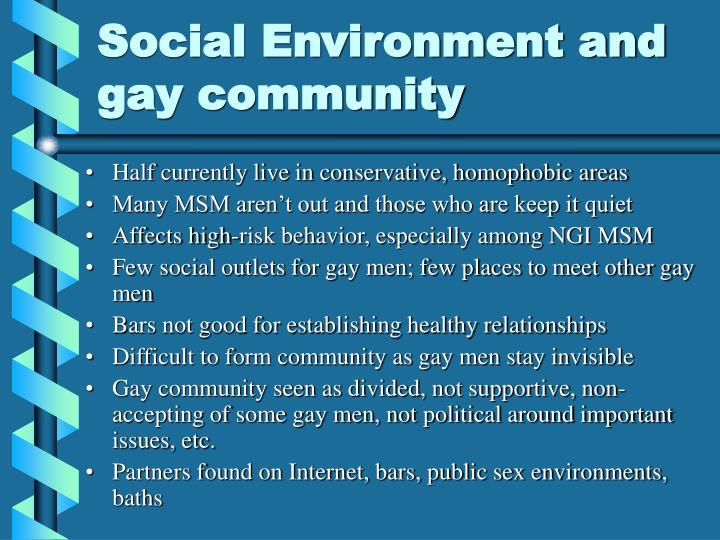 Social Environment and gay community