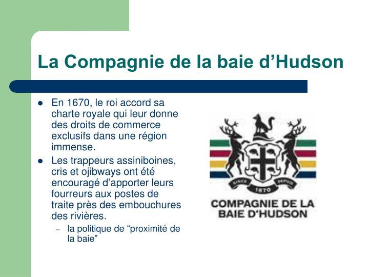 La Compagnie de la baie d'Hudson