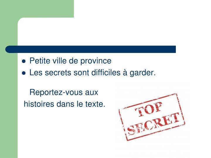 Petiteville de province