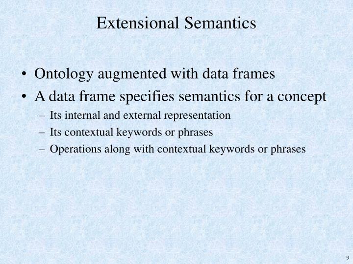 Extensional Semantics