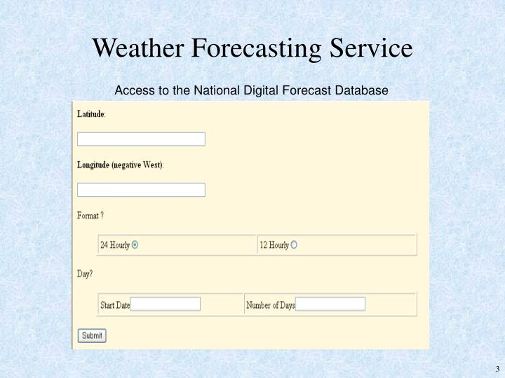 Weather Forecasting Service