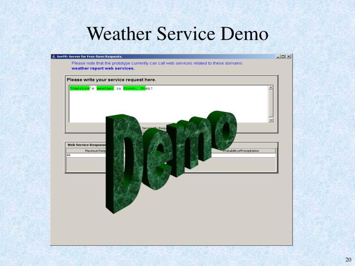 Weather Service Demo