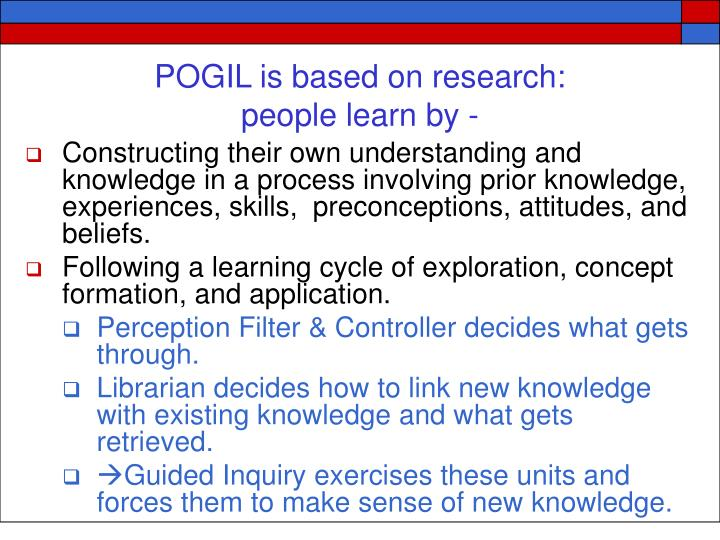 POGIL is based on research: