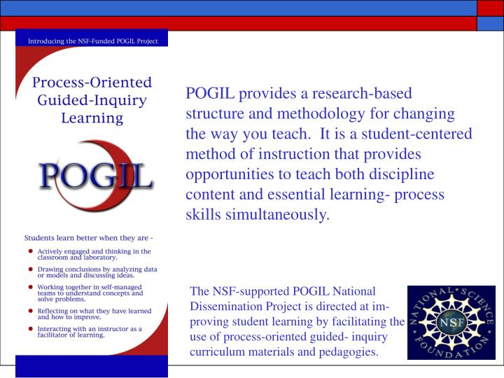 POGIL provides a research-based structure and methodology for changing the way you teach.  It is a s...