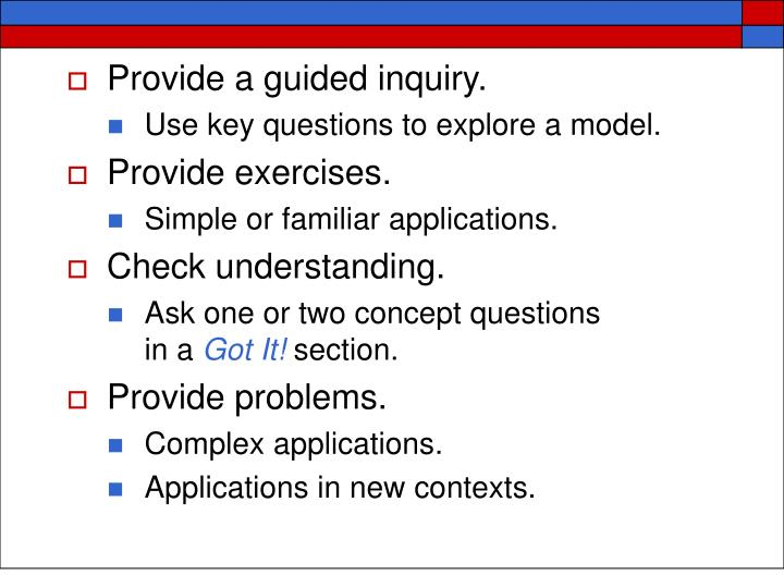 Provide a guided inquiry.