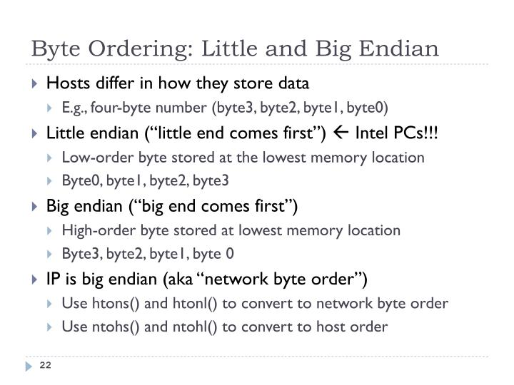 Byte Ordering: Little and Big Endian