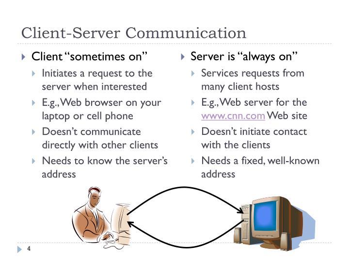 Client-Server Communication