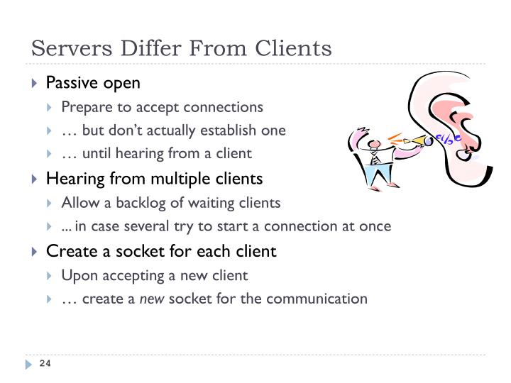 Servers Differ From Clients