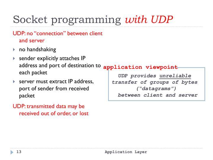 UDP provides