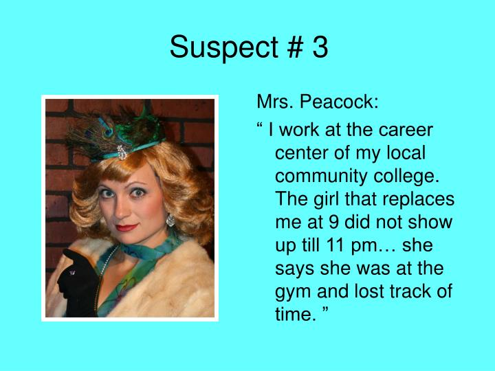 Suspect # 3