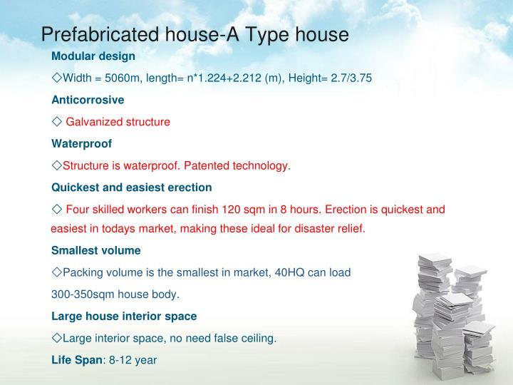 Prefabricated house-