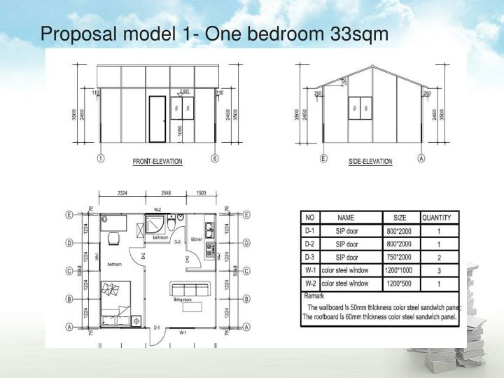 Proposal model 1- One bedroom 33sqm