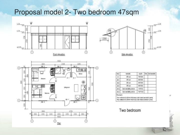 Proposal model 2- Two bedroom 47sqm