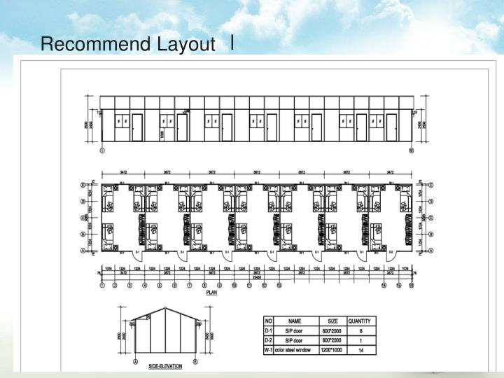 Recommend Layout