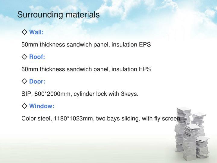 Surrounding materials