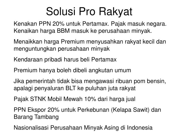Solusi Pro Rakyat