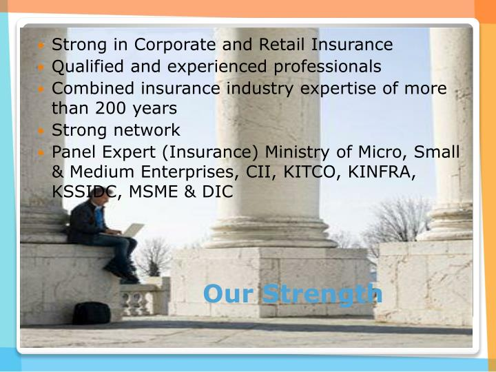 Strong in Corporate and Retail Insurance