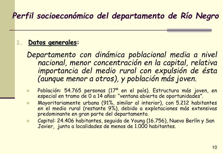 Perfil socioeconómico del departamento de Río Negro