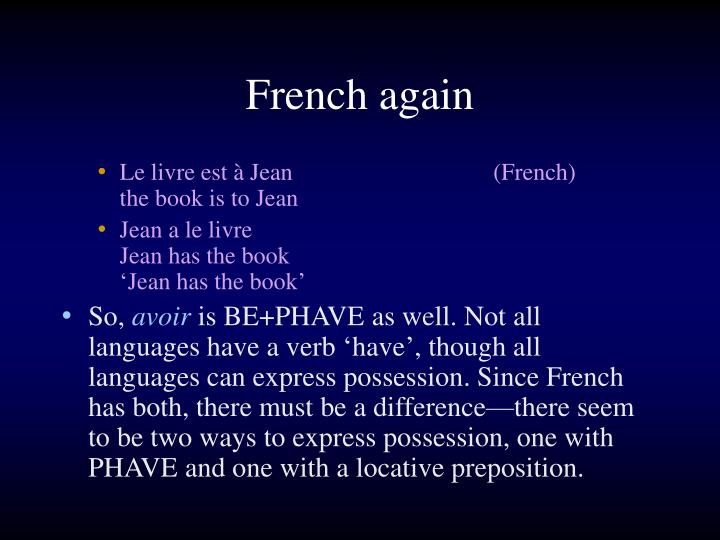 French again