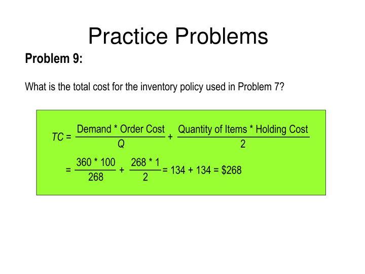 Demand * Order Cost