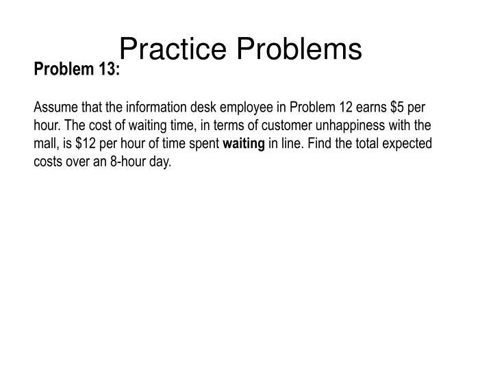 Practice Problems