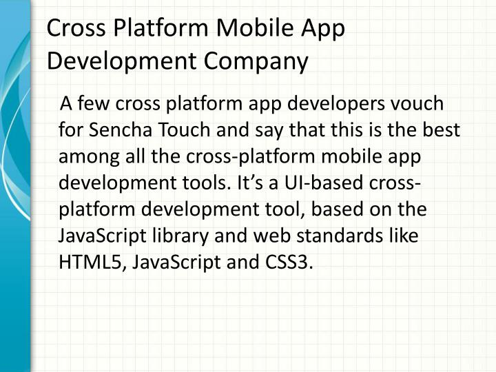 Cross Platform Mobile App Development Company