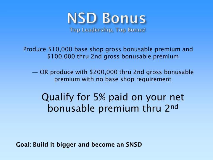 NSD Bonus