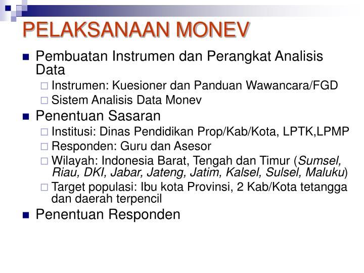 PELAKSANAAN MONEV