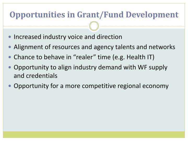Opportunities in Grant/Fund Development