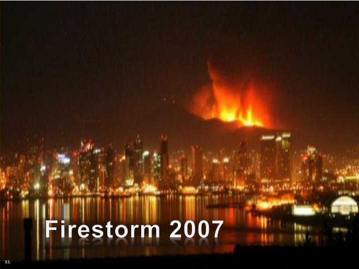 Firestorm 2007
