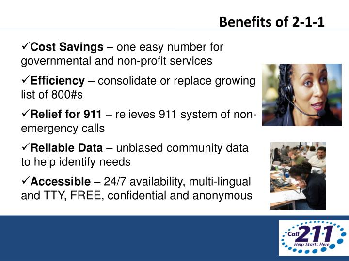 Benefits of 2-1-1