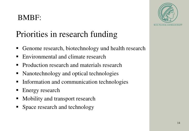 Genome research, biotechnology und health research