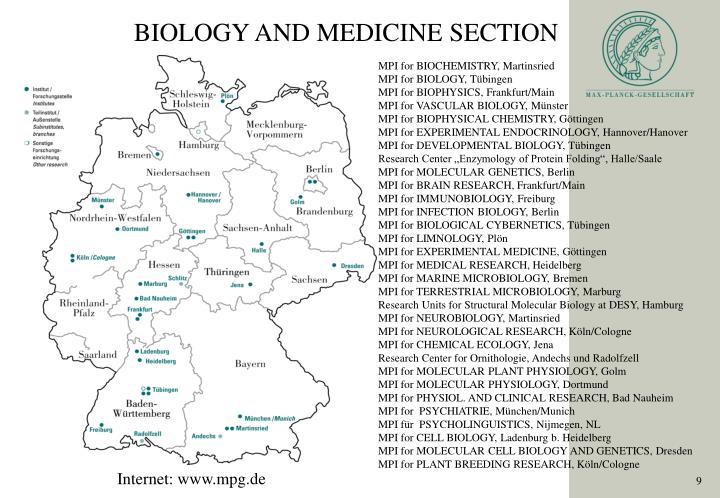 BIOLOGY AND MEDICINE SECTION